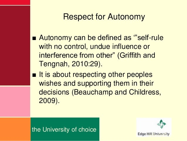 autonomy counseling ethics Video: the importance of ethics in counseling in this lesson, we will be looking at the ethical issues a new counselor should be familiar with and prepared to handle.