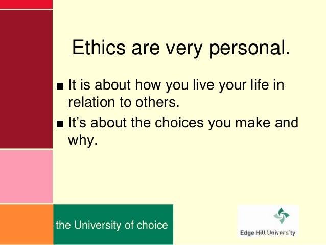 how did these ethical perspectives or lenses influence your decisions These codes of ethics and guidelines parallel aca's code of ethics but speak more being the subject of an ethics complaint ethical decision making document all actions.