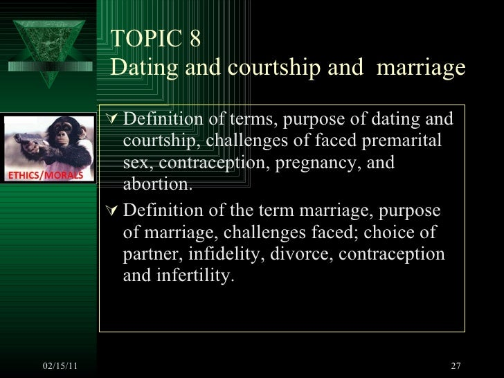 Courtship dating meaning
