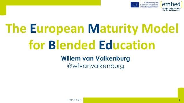 [Willem van Valkenburg @wfvanvalkenburg The European Maturity Model for Blended Education CC-BY 4.0 1
