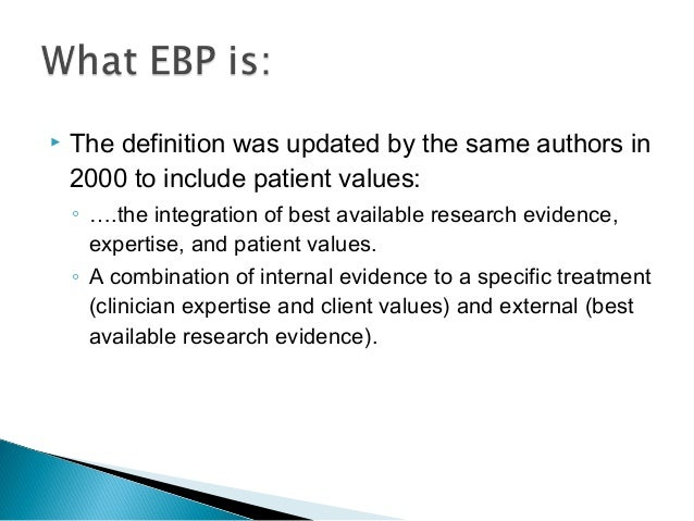 Evidence Based Practice Resources