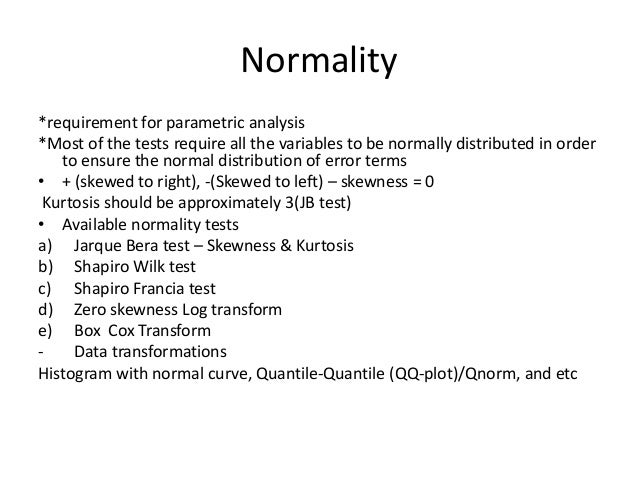 how to find normality of residulas in eviews