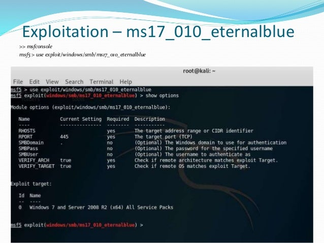 Introduction To Exploitation & Metasploit