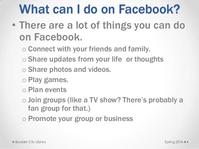 What Can I Do On Facebook