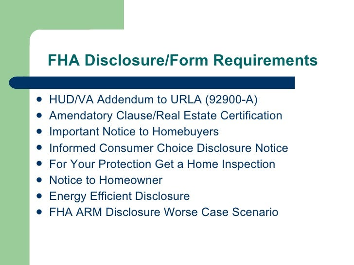 Introduction To FHA Origination