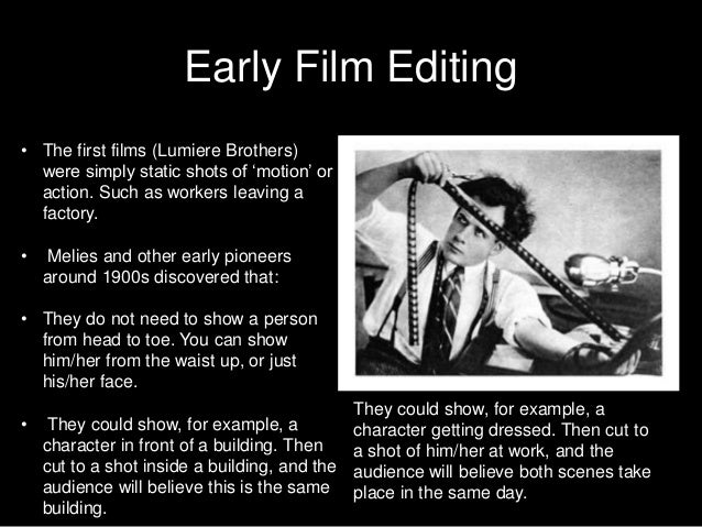 Building Block Of Film Editing