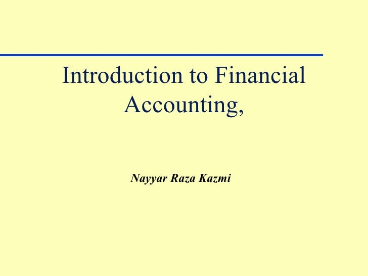 Introduction to financial accounting essay
