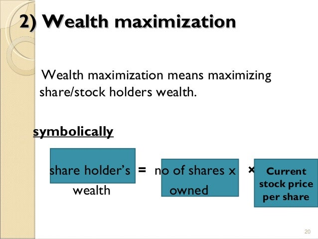 wealth maximization in financial management pdf