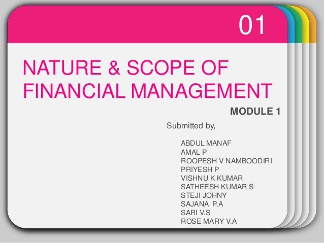 WINTERTemplateNATURE & SCOPE OF FINANCIAL MANAGEMENT 01 MODULE 1 Submitted by, ABDUL MANAF AMAL P ROOPESH V NAMBOODIRI PRI...