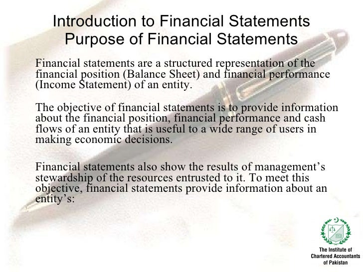 introduction to financial statements pdf