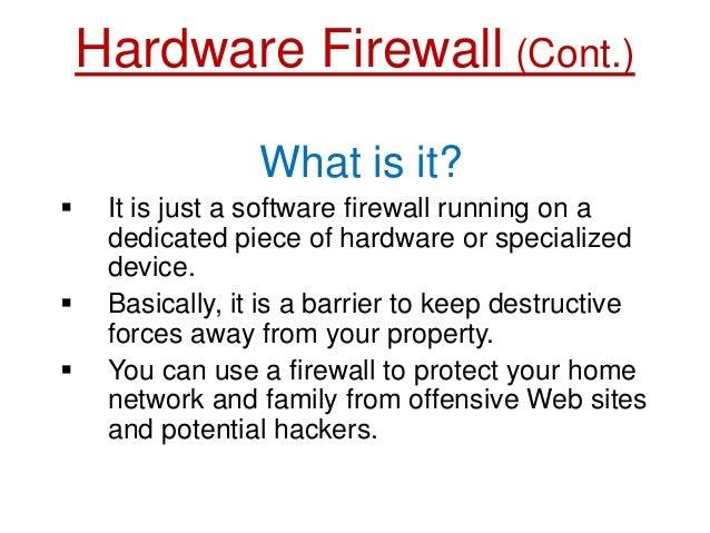Firewalls PPT