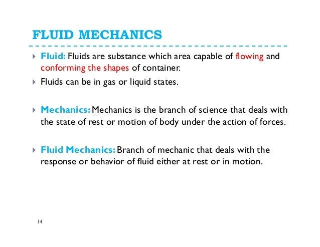 Fluids mechanics is also gas mechanics?