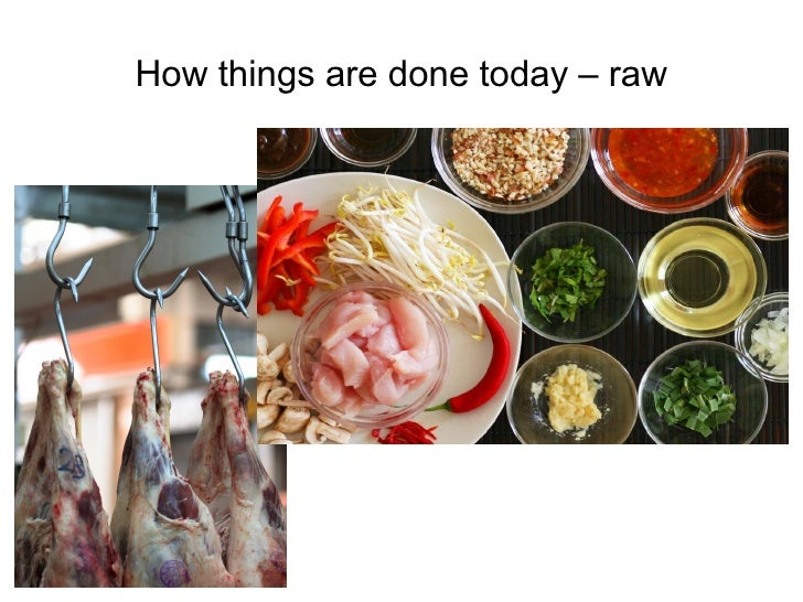 How things are done today – raw