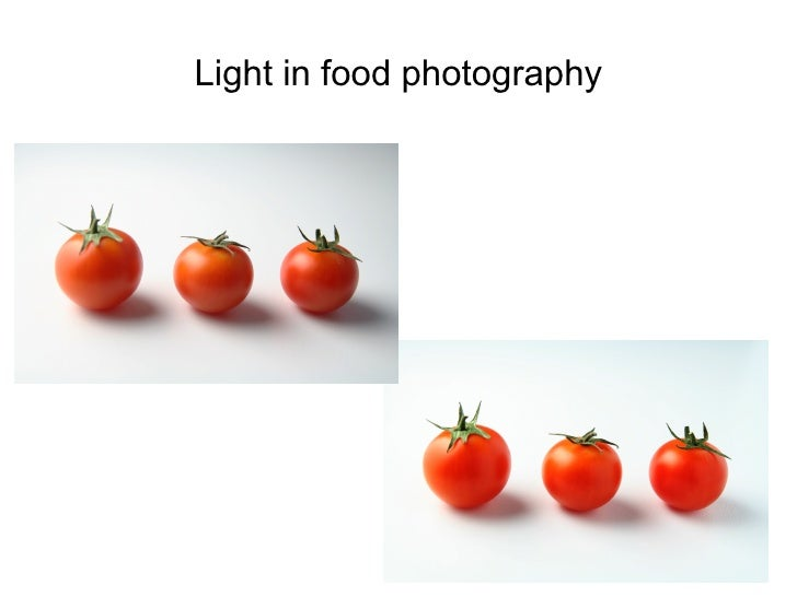 Light in food photography