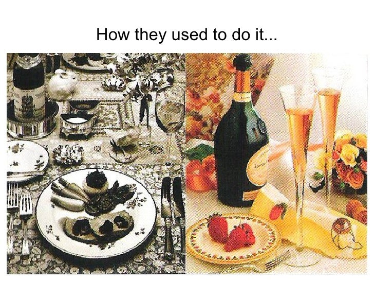How they used to do it...