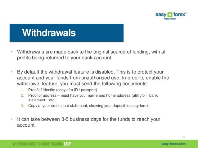Easy forex withdrawal