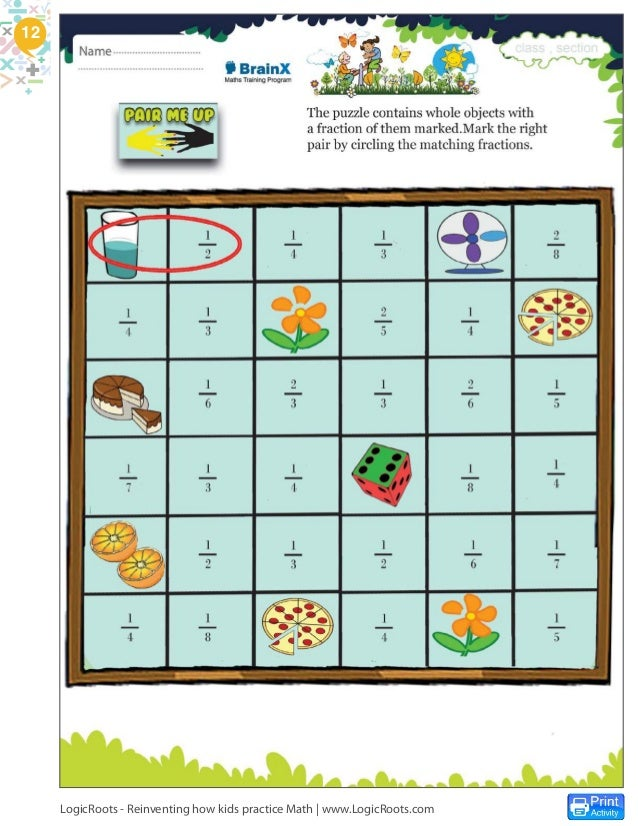 Fractions Card Game - Monkey Fractions. 8 times more math practice