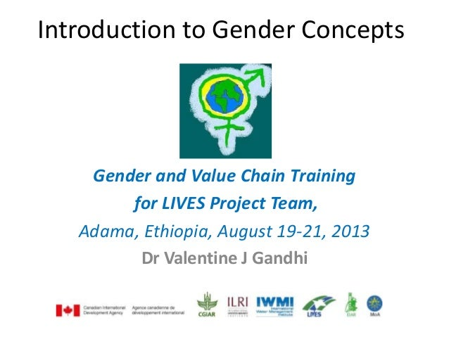 Introduction to Gender Concepts Gender and Value Chain Training for LIVES Project Team, Adama, Ethiopia, August 19-21, 201...