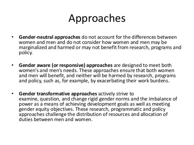 "an introduction to the concept of gender Definition of terms and concepts related to sex, gender gender is the concept of adapted from the definitions provided in ""a provider's introduction to."