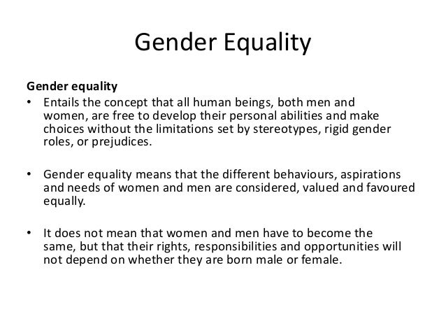 gender inequality introduction