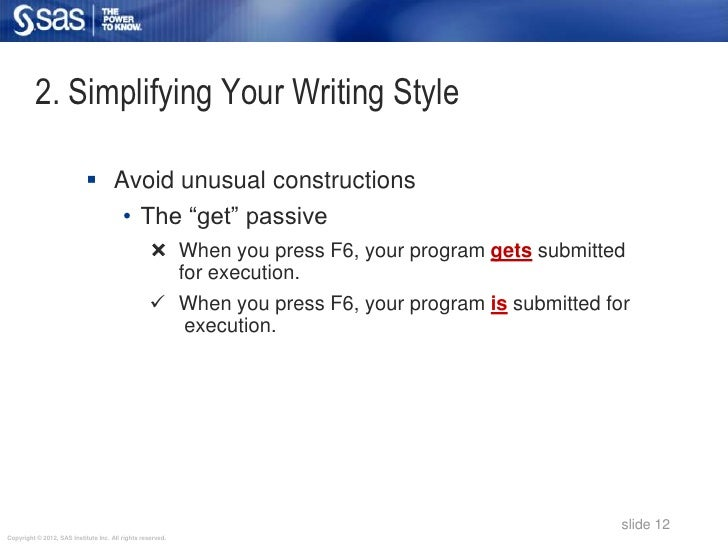 2. Simplifying Your Writing Style                             Avoid unusual constructions                                ...