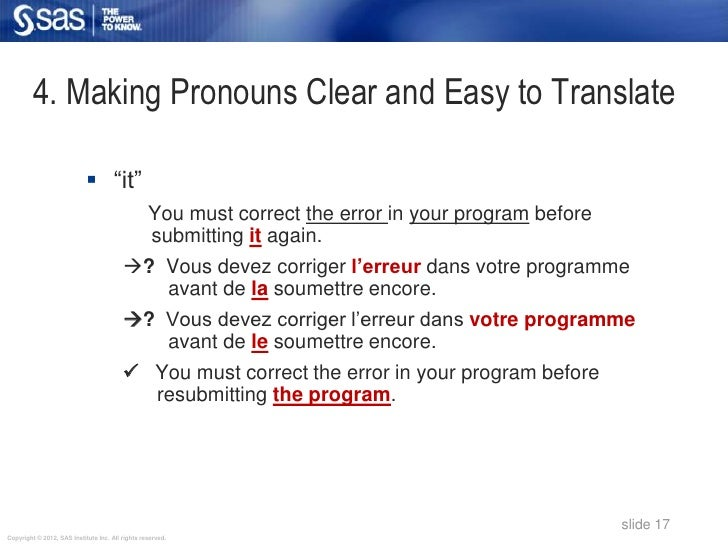 """4. Making Pronouns Clear and Easy to Translate                             """"it""""                                          ..."""