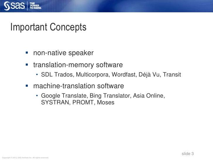 Important Concepts                             non-native speaker                             translation-memory softwar...