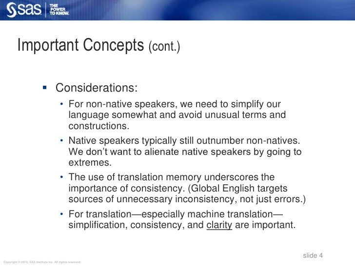 Important Concepts (cont.)                             Considerations:                                         • For non-...