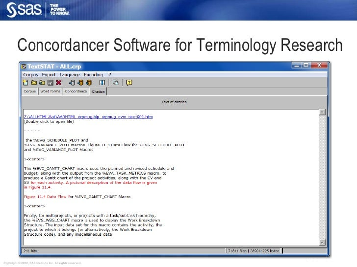 Concordancer Software for Terminology Research                                                            slide 45Copyrigh...