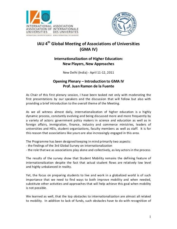 IAU4thGlobalMeetingofAssociationsofUniversities                            ...