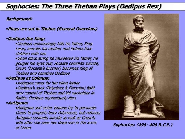 sophocles oedipus cycle creon s deterioration Plot and episode summary of the 'oedipus tyrannos' play by sophocles plot (priest, oedipus, creon) the priest summarizes the dismal plight of thebes.