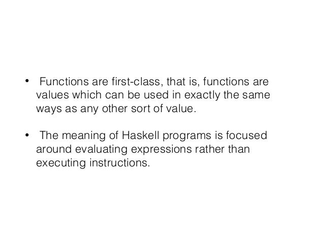 Introduction to haskell Slide 3