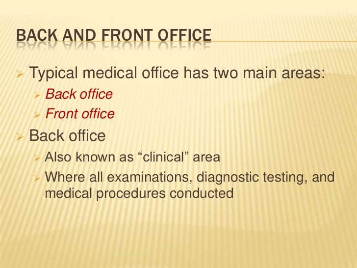 Introduction to Health Care Careers Medical Office
