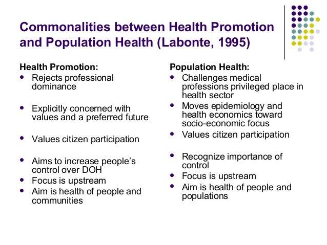 Promoting population health essay