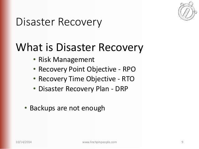 Introduction to high availability with sql server for Recovery point objective template
