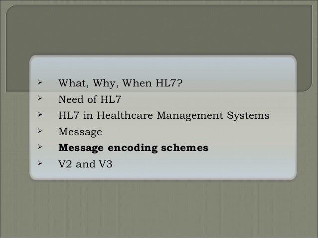Introduction to hl7