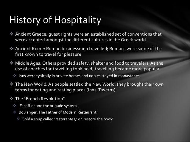 history of hospitality law