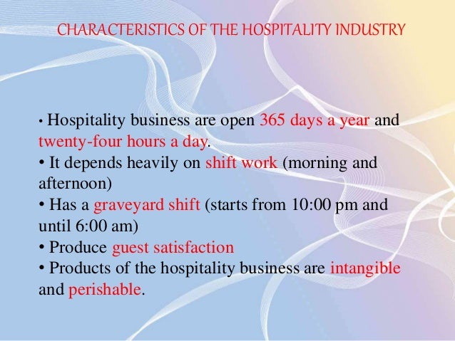 Scope of hospitality and catering industry