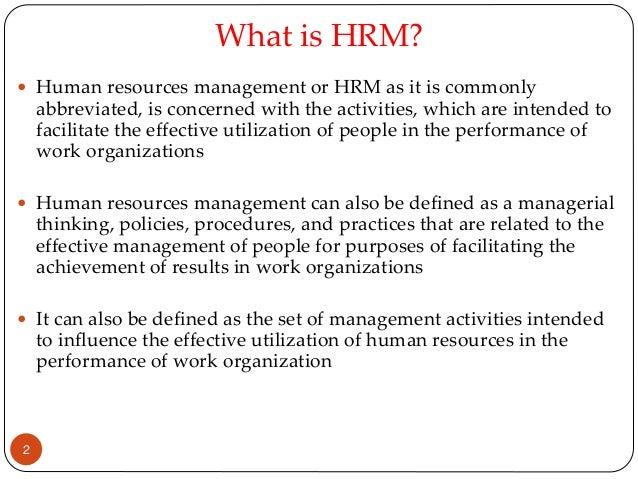 Benefits of hrm essay