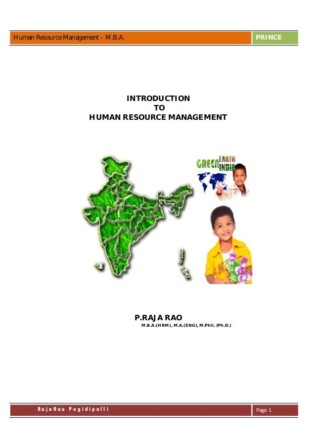 introduction to hrm 1 unit - 1 : introduction to human resource management structure of unit: 10 objectives 11 introduction 12 opening case 13 what is human resource management.