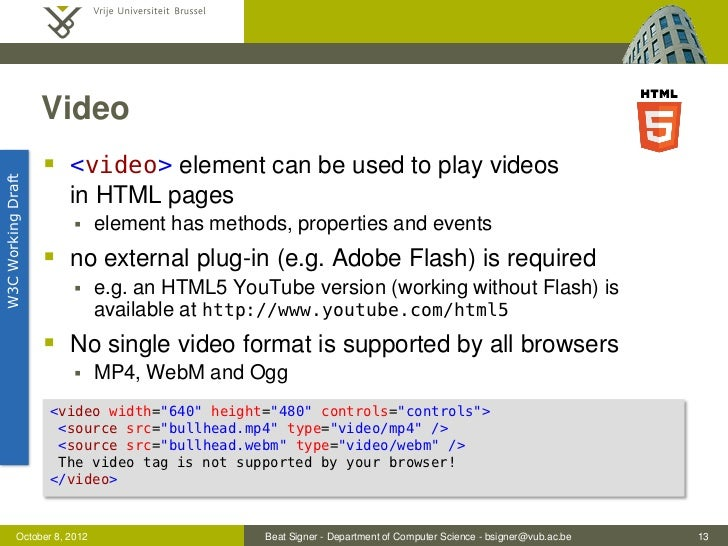 HTML5 and the Open Web Platform