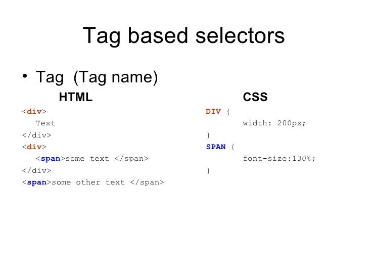 Introduction to css - Div tag css ...