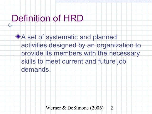 what do you mean by human resource development