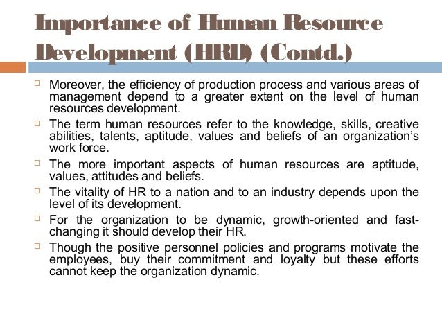 importance of hrd