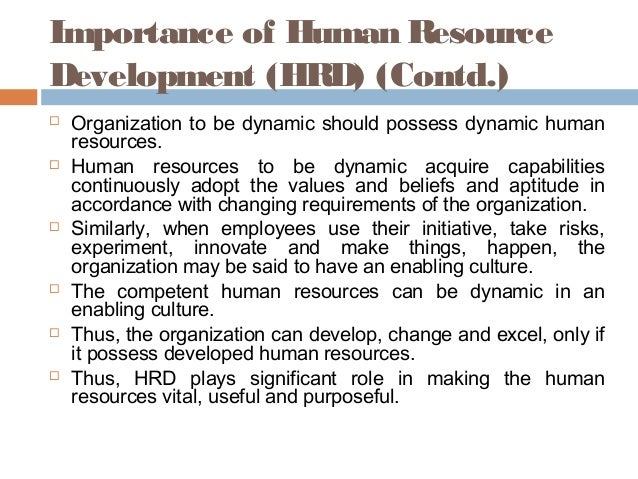 introduction to human resource development pdf