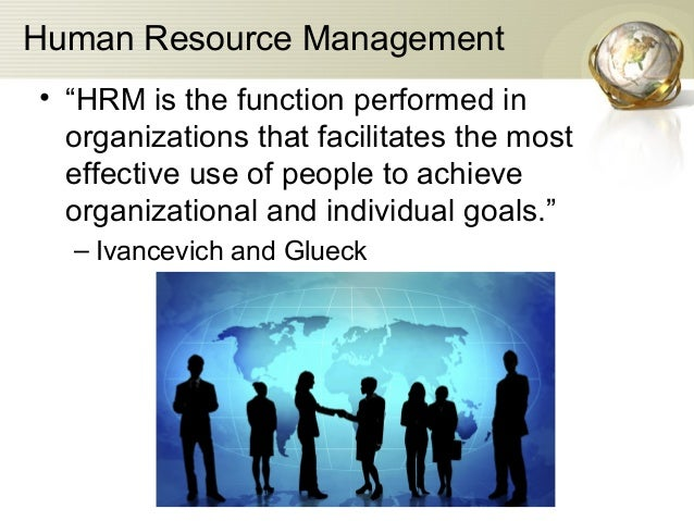 what is human resource management and its functions pdf free