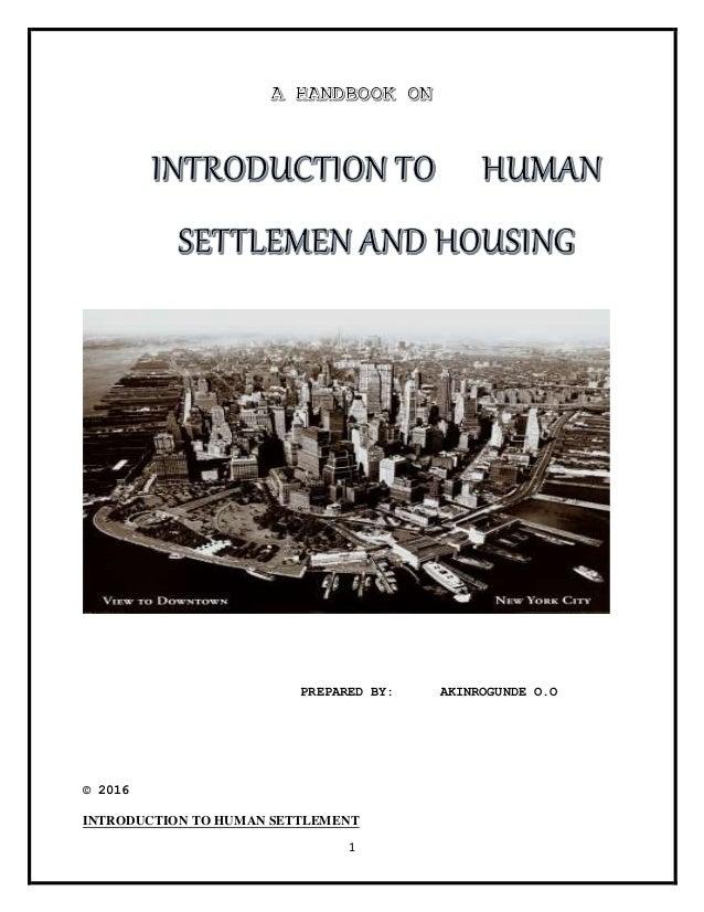 human settlement slideshare