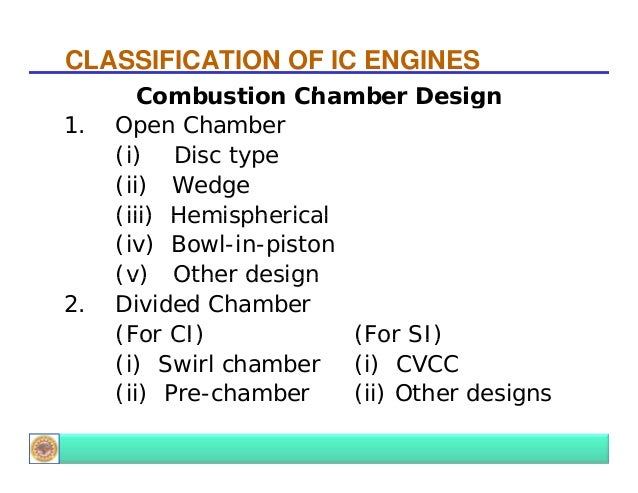 Introduction To Ic Engines on Wedge Combustion Chamber