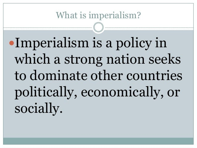 introduction to imperialism