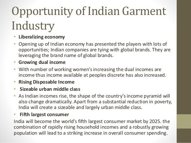 an introduction about garment industry in india Introduction: cotton textile industry is one of the largest single industries in india it accounts for a large portion of the total industrial output in the country each year.